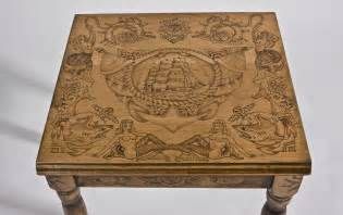 japanese wedding rings made wood burned end table with flash by san diego custom wood burning