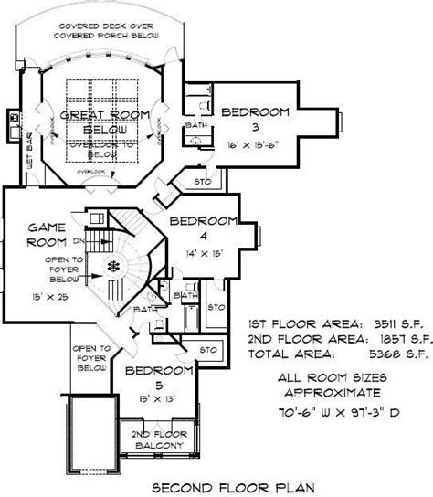 5 Bedroom 5 Bath Castle House Plan #ALP 07S4 Coastal