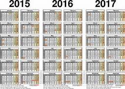 Three year calendars f...