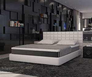 Modernes Bett 180x200 : boxspringbett junis 180x200 weiss matratze und topper delife deluxe beds bed und home decor ~ Watch28wear.com Haus und Dekorationen