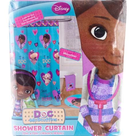 disney junior doc mcstuffins bathroom shower curtain girls