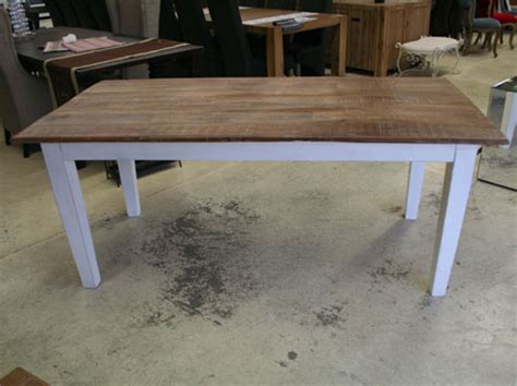table en bois blanche meubles manguier et bois recycle