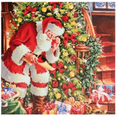 traditional santa cards  woodcote green garden centre