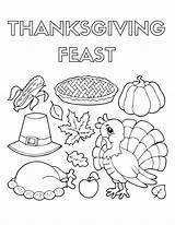 Thanksgiving Coloring Pages Dinner Llamacorn Feast Sheets Drawing Corn Pdf Printable November Template Llama Getcolorings Pilgrim Draw Getdrawings Sketch Searches sketch template