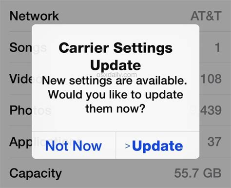 what is carrier settings update on iphone how to check for a carrier settings update on iphone