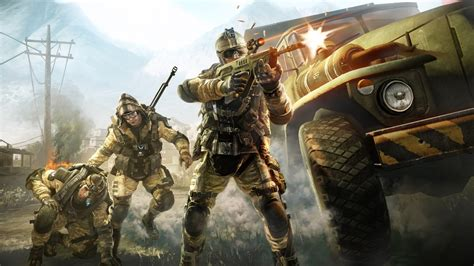 warface military soldiers warriors weapons guns explosions