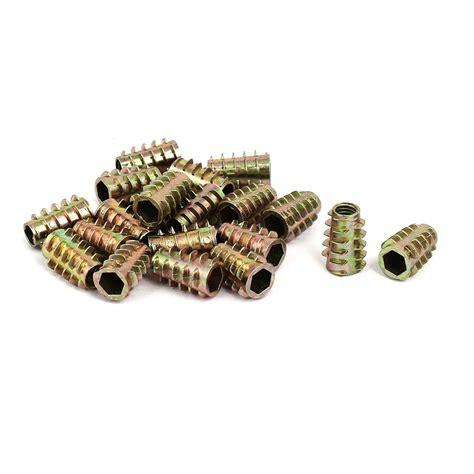 Vis à Béton M6x18mm Vis 224 Filetage Ton Bronze 233 Crous 20pcs Pour Meubles En Bois