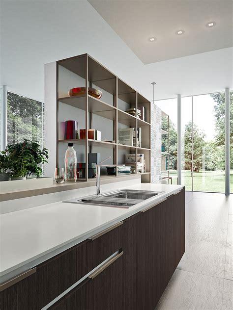 fashionable modern kitchen compositions  smart storage