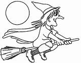 Coloring Witch Pages Printable Preschool Easy sketch template