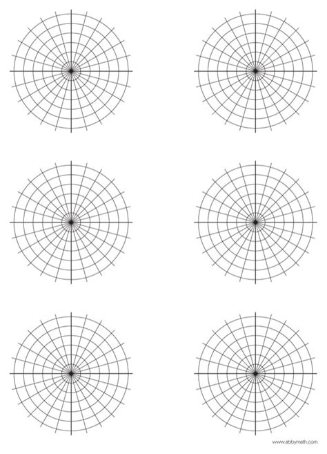 polar graph paper   page  formtemplate
