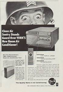 1957 York Air Conditioning Vintage Ad  U0026quot Clean Air Sentry U0026quot