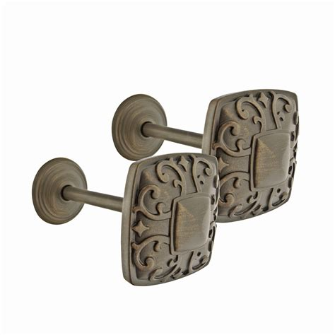 shop allen roth 2 pack aged bronze zinc curtain