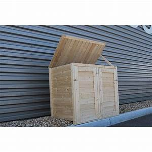 Cache Climatiseur Extérieur Leroy Merlin : cache poubelle double en bois lokka naterial 1 2 m ~ Nature-et-papiers.com Idées de Décoration