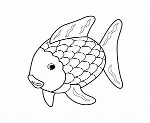 Rainbow Fish Coloring Page - Coloring Home