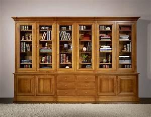 Meuble Bibliothèque Bois : la biblioth que vitr e le meuble id al pour ranger des ouvrages ~ Teatrodelosmanantiales.com Idées de Décoration
