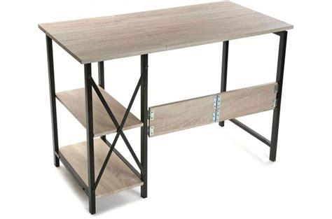 bureau pliable bureau pliable industriel bois et métal evamon design sur