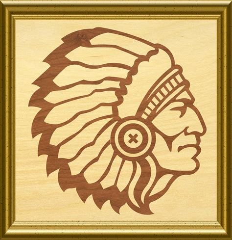 indian chief scroll  woodworking pattern   similar