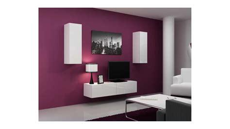 meuble tv vigo set blanc noir sejour meuble tv