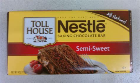 semi sweet chocolate nestle toll house semi sweet baking chocolate bar pack of 10