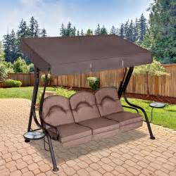 Patio Furniture Replacement Cushions Walmart by Replacement Canopy For Living Accents 3 Person Deluxe