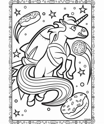 Coloring Crayola Unicorn Space