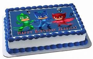 PJ Masks 5 Edible Cake Topper & Cupcake Toppers – Edible