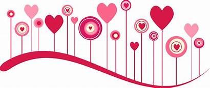 Border Heart Valentine Clipart Background February Vector