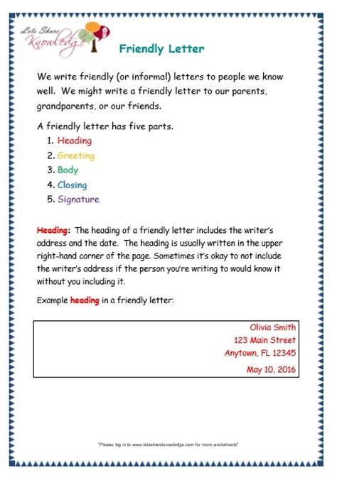 grade  grammar topic  letters worksheets lets share