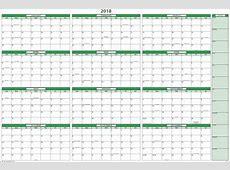 Printable Calendar 2018 Yearly Calendar Download