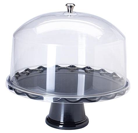 4484 cake stand with dome 15 black cake stand with dome detachable riser