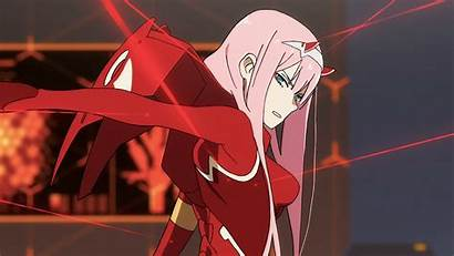 Darling Franxx Zero Eyes Horns Pink Anime