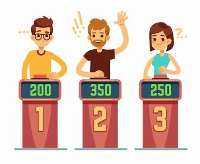 Quiz Competition Questions Vector Illustration Answering Buttons