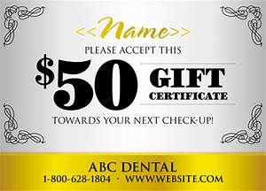 79 brilliant dentist direct mail postcard advertising examples With dental gift certificate template
