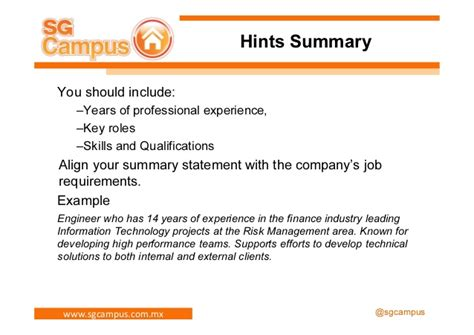 What Should A Professional Summary Include On A Resume by How To Create A Successful Resume