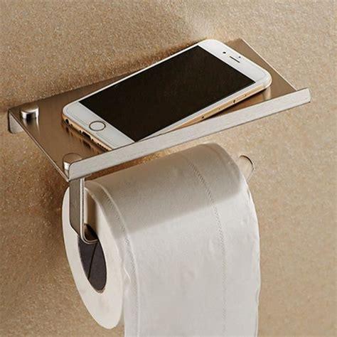 porte papier toilette porte papier support de t 233 l 233 phone en inox montage mural style achat