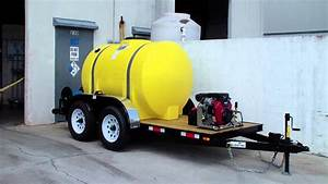 4000 Psi   5 5 Gpm Cold Water Pressure Washer Trailer With