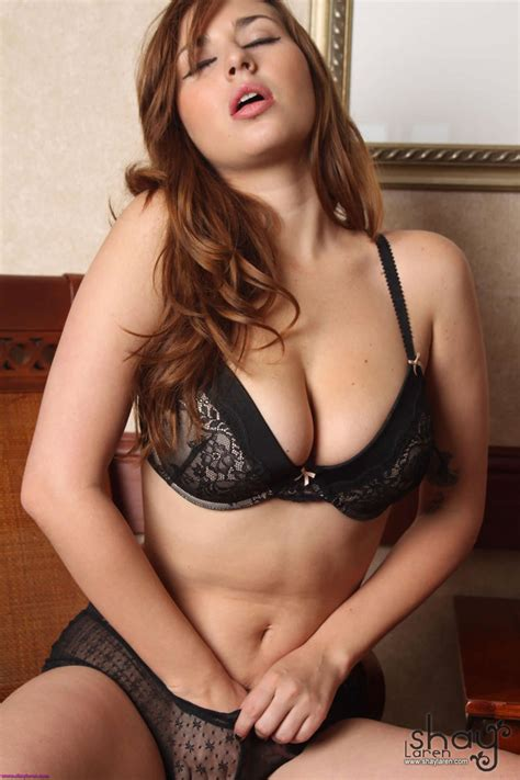 Shay Laren Strips Out Her Sexy Black Lingerie