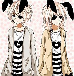 Black And White Hair Anime Neko Twins Pictures to Pin on ...