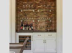 Stacked Glass Bar Shelves Design Ideas