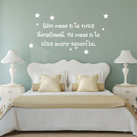 sticker citation chambre stickers pour chambre d ado fashion designs