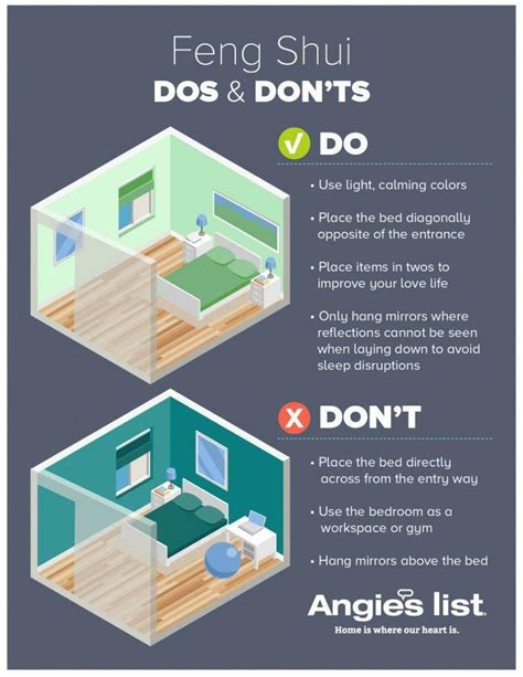 Feng Shui Bedroom Colors For by Infographic Showing Dos And Don Ts Of Feng Shui Bedroom