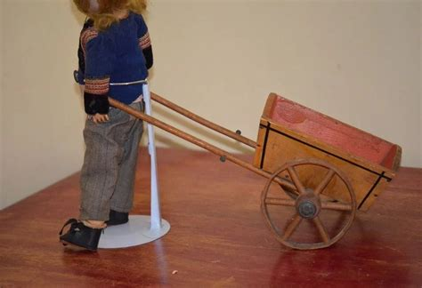 Antique Doll Wagon Pull Toy For Doll & Miniatures Wood