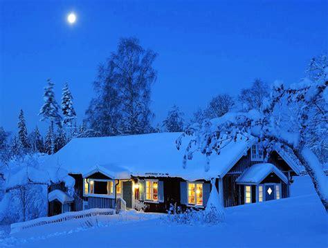 moonlight winter house wallpaper  hd winter images