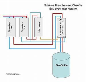 Branchement Electrique Chauffe Eau : sch ma lectrique branchement chauffe eau avec ~ Dailycaller-alerts.com Idées de Décoration