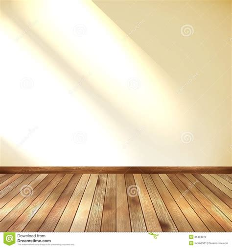 floor wall empty room with wall and wooden floor eps 10 stock image image 31484979