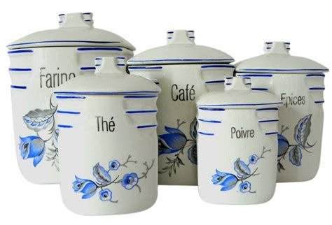 Ceramic Kitchen Canister Sets French Ceramic Canisters Set