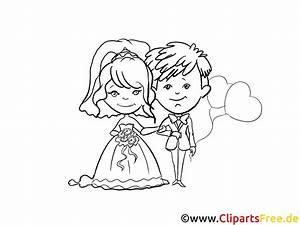 Dessin Couple Mariage Noir Et Blanc : dessin colorier couple mariage images mariage dessin ~ Melissatoandfro.com Idées de Décoration