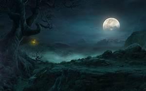 full moon night rpg dark fantasy storm diablo HD wallpaper