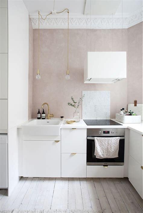 cozinhas lindas  paredes na  rosa casa vogue