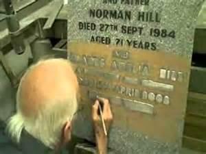 creating a memorial headstone raised lead inscription